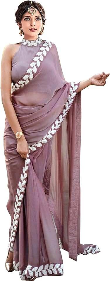 Indian Vaidehi Fashion Women's Plain Silk Saree With Blouse Piece (Vaidehi Fashion_Beige) Saree