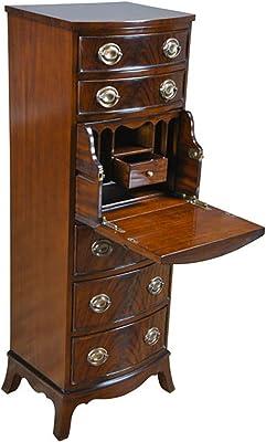 c8364482bcd1 Niagara Furniture Tall Wooden Dresser Chest Drawer with Hidden Desk NOF074