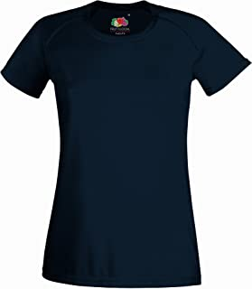 Fruit Of The Loom Ladies/Womens Performance Sportswear T-Shirt (UK Size: S) (Deep Navy)