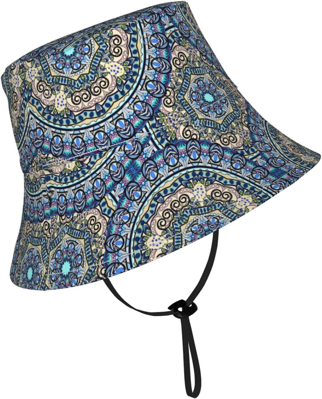 Jsragt Mandala Kids Sun Hat Hats Breathable Fisherman Adjustable Max 77% Free shipping on posting reviews OFF