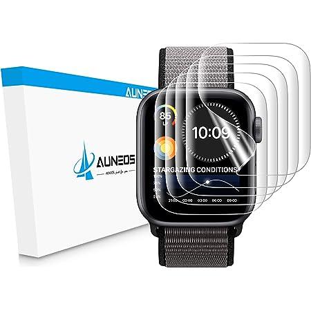 『2020年春改良』AUNEOS Apple Watch Series6 / Apple Watch Series SE Series5/4 40mm Series2/3 38mmフィルム 「独創位置付け設計」 今年最先端TPU材 3D全面保護 浮き防止 取扱簡単 気泡レス 柔らかい 極薄 指紋対策 高光沢 キズ修復 アップルウォッチ 液晶保護フィルム