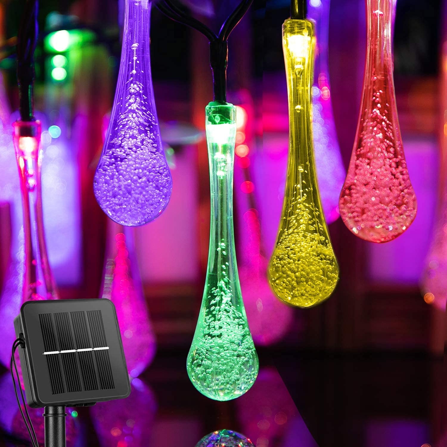 Solar String Lights Outdoor Ranking TOP1 Waterproof Charlotte Mall Waterdrop with 8 M