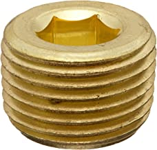 Anderson Metals 56115 Brass Pipe Fitting, Hex Drive Countersunk Plug, 3/8