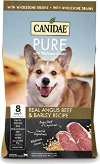 Canidae PURE with Wholesome Grains, Limited Ingredient Dry Dog Food, Beef and Barley, 24lbs