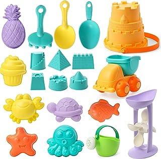 Beach Toys Kit for Kids Summer Beach Sand Play, Castle Buchet, Castle Sand Molds, Beach Shovel Rake, Sand Truck, Watering ...