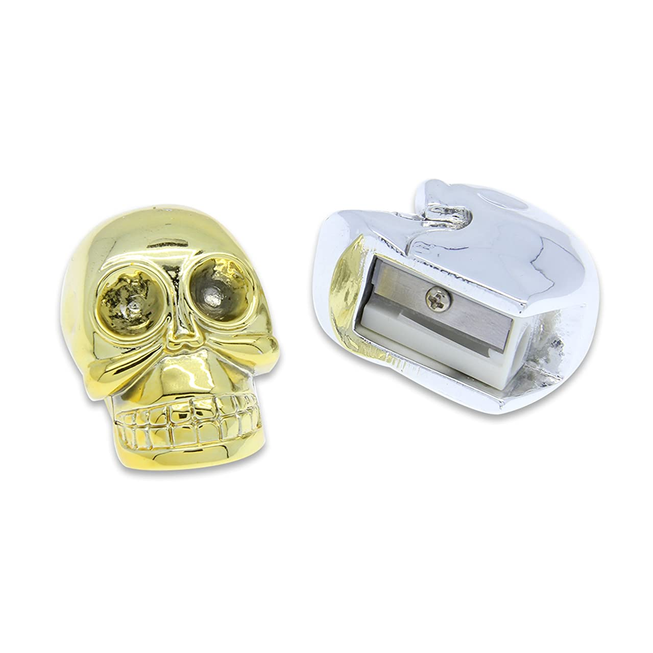DCI Skull Pencil Sharpener (50412) ,Assorted gold or silver color