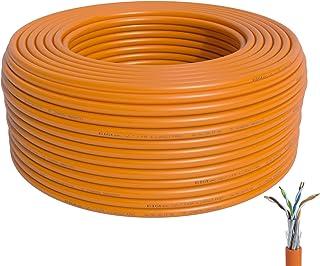 BIGtec CAT 7 Netzwerkkabel Verlegekabel LAN Kabel 300m CAT7 PiMF halogenfrei Zertifiziert GHMT BauPVO Eca POE orange Netzwerk Installationskabel Datenkabel