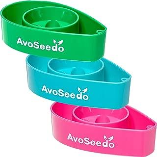 AvoSeedo Bowl Grow Your Own Avocado Tree, Evergreen, Perfect Avocado Tree Growing Kit for Every Avocado Lover - Green, Blue & Pink