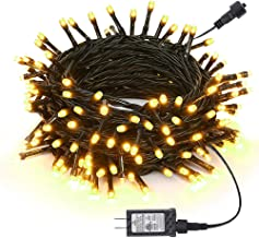 Joomer Christmas Lights, 66Ft 200 LED String Lights, 8 Modes Timer Function, Low Voltage Indoor & Outdoor Fairy Twinkle Li...