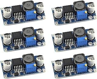 DZS Elec 6pcs XL6009 DC-DC Booster Converter Module 3V-32V to 5V-35V 4A Adjustable Step-up Voltage Regulator 5V 9V 12V 24V Power Supply Module