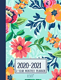 2020-2021 2 Year Monthly Planner 8.5x11: Watercolor Floral - 24-Month Planner Calendar | Agenda Schedule Organizer Logbook and Journal Personal, 24 Months Calendar (2 Year Monthly Planner 2020-2021)