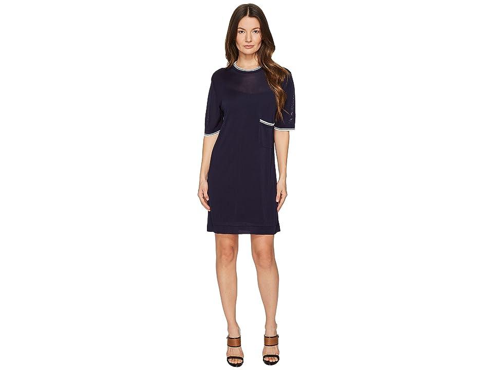 DSQUARED2 Skin Hibird Short Sleeve Dress (Navy/Blue) Women