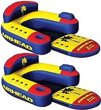 Airhead AHBL-3 Bimini Lounger II Single Person Inflatable Pool Lake Lounge Raft (2 Pack)