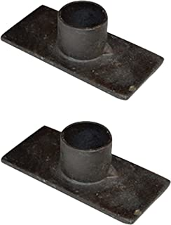 Black Iron Taper Candle Holder, Set of 2 by CWI