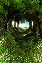 AOFOTO 6x8ft Spring Forest Scenery Photography Backdrop Fresh Meadow Flowers Background Green Plants Tree Florets Bucolic Landscape Photo Studio Props Kid Girl Baby Artistic Portrait Vinyl Wallpaper