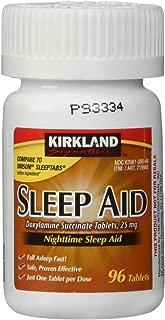 Kirkland Signature Nighttime Sleep Aid 25mg - 96 Tablets