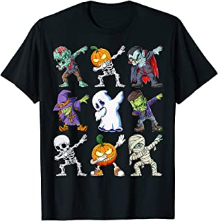 Dabbing Halloween Boys Skeleton Zombie Scary Pumpkin...