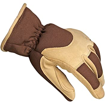 Extra Large Mens Insulated Winter Gloves with Synthetic Leather Palm Wells Lamont 7092XL