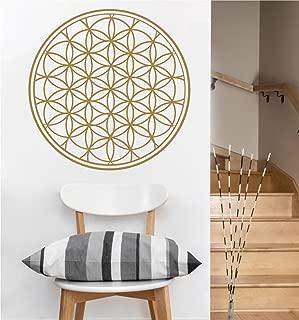 Flower of Life Wall Decal | Sacred Geometry | Mandala (Gold Metallic)