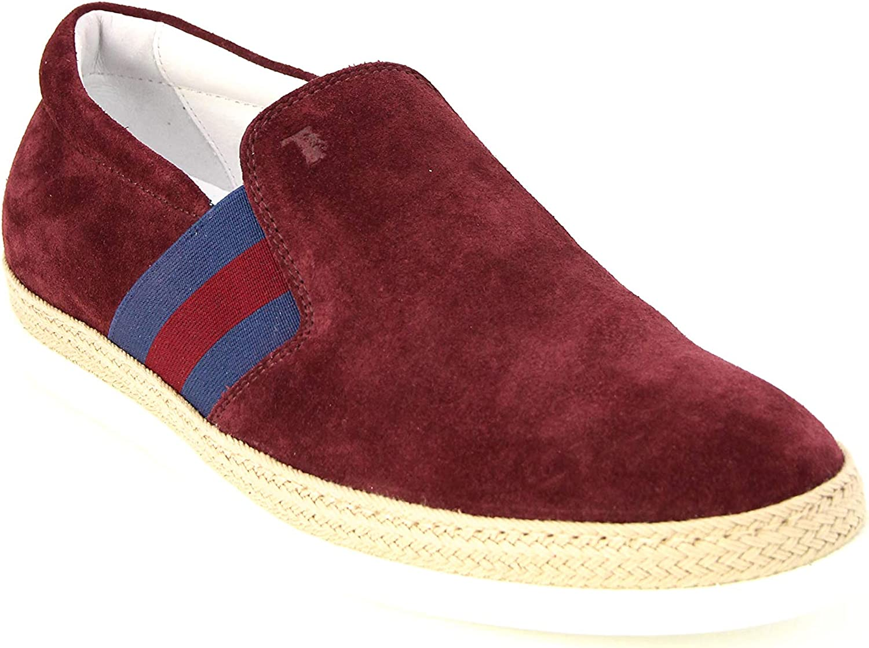 Tod's Men's Pantofola Moccasins Loafers Max 77% OFF Bordeaux XXM0TV0V530RE0R Sale