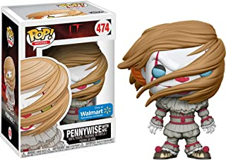 Funko Pennywise [w/ Wig] (Walmart Exclusive): It x POP! Movies Vinyl Figure & 1 PET Plastic Graphical Protector Bundle [#474 / 22107 - B]
