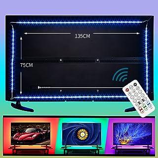 Wobsion Ruban Led usb TV 4M, Bandes LED 16 Couleurs et 3 Modes Rubans LED RGB 4096 Alimenté par USB, Bande Lumineux avec T...