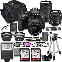 $719 » Nikon D5600 DSLR Camera with AF-P 18-55mm VR Lens + Nikon AF-P 70-300mm f/4.5-6.3G ED Lens + 2pc SanDisk 32GB Memory Cards + Accessory Kit