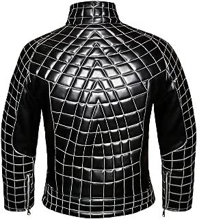The Amazing Spider Man 2 Men's Stylish Faux Leather Biker Bomber Jacket #532-FL