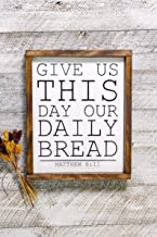 Laptopo Lords Prayer, Give Us This Day Our Daily Bread, Give Us This Day Our Daily Bread Wooden Framed Sign, Dining Room Sign, Kitchen Sign, Prayer