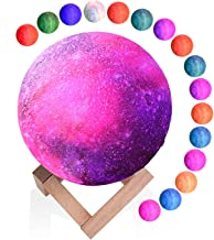 XREXS Moon Lamp, 16 Colors Moon Light (5.9 Inch), 3D Printing LED Moon Night Light Touch and Remote Control, USB Charging,...
