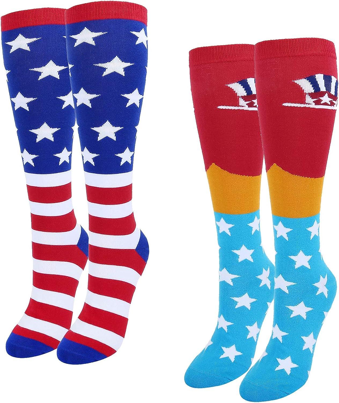 Zmart Men's Novelty Socks Art Patterned Casual Crew Food Socks Gift Pack