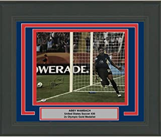 Framed Autographed/Signed Abby Wambach Team USA World Cup USWNT 16x20 Soccer Photo PSA/DNA COA Holo Only