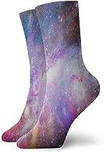 Mens Womens Crew Socks Galaxy Space Nebula Athletic Socks Stylish Anti Bacterial Odor Cushion Short Boot Stocking