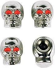 Custom Accessories 16220 Chrome Skull Style Valve Cap -, Pack of 4