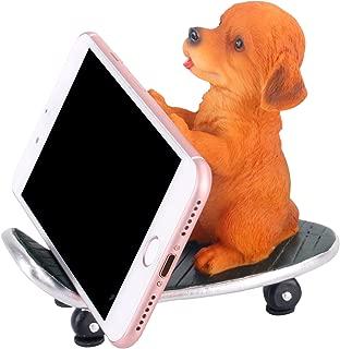 Z PLINRISE Puppy Desk Phone Stand Dog Shape Smartphone Holder for Free You Hands (Resin Shiba)