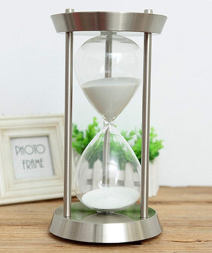 手がかり外部有名人アンティーク風砂時計 シルバー 白砂 60分 オフィス、店舗、おうちのリビング インテリアとして 贈り物としても です