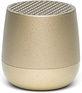 Lexon MINO + Portable Bluetooth Speaker - 3W - Charge with USB-C or QI Wireless - Hands Free Call - Selfie Control - Soft Gold
