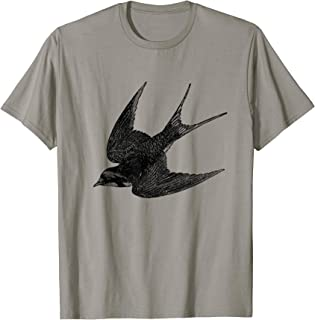 Barn Swallow Bird Print T-Shirt