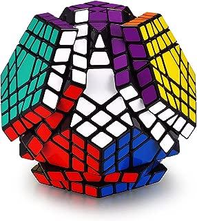 Hann Megaminx Pyraminx Speed Cube 2x2 3x3 Kilominx Megaminx Pyramid Dodecahedron Black Magic Cube Puzzle Games Twist Fidget Toys for Kids (5x5 Megaminx Black)
