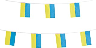 LoveVC Ukraine Flag Ukrainian Flag, 100 Feet National Country World String Flags Banners,International Party Decorations Supplies for Olympics,Sports Clubs