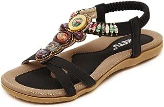 Women's Bohemian Beaded Ankle Strap Sandal