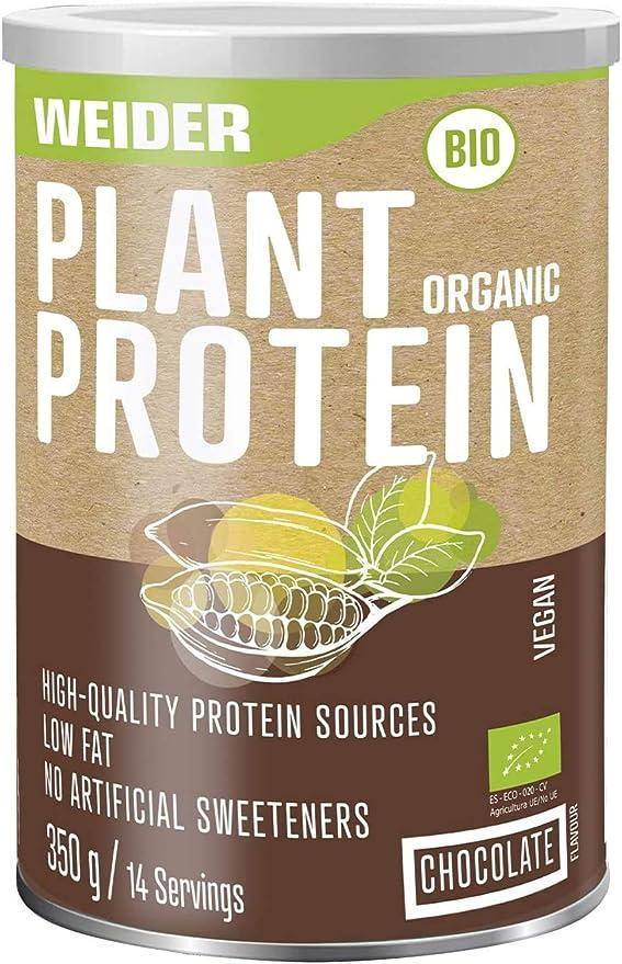 Weider Milk Organic Protein Chocolate 300 gr, Proteina BIO sostenible, Grass Feed, ECO, Sin edulcorantes artificiales, 100% natural