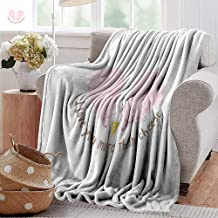 Sand Free Beach Blanket,I Love You More,Pink Rats with Tangled Tails Forming a Heart Sweet Valentines,Pale Pink Cocoa Yellow,Soft Summer Cooling Lightweight Bed Blanket 60