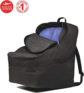 J.L. Childress Ultimate Backpack Padded Car Seat Travel Bag, Black
