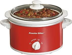 Proctor Silex 33111Y Portable Oval Slow Cooker, 1.5-Quart