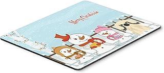 Caroline's Treasures Merry Christmas Carolers Pekingese Cream Mouse Pad,  Multicolor, 7.75x9.25 (BB2437MP)
