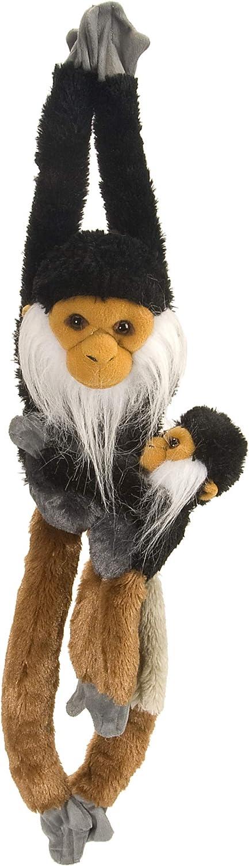 Wild Republic Hanging 20  Douc Langur with Baby Plush
