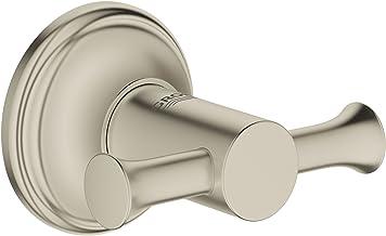 Grohe 40656EN1 Essentials Authentic Robe Hook, Brushed Nickel InfinityFinish