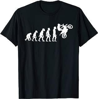 Funny Human Enduro Evolution Motocross Rider Racing Racer T-Shirt