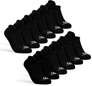 Athletics Mens Low Cut Socks Pack, 6-Pairs No Show Socks for Men, Cushioned Comfort Ankle Socks for Running Black 6-Pack